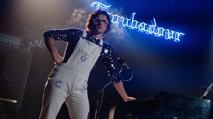 Taron Egerton as Elton John at the Troubadour