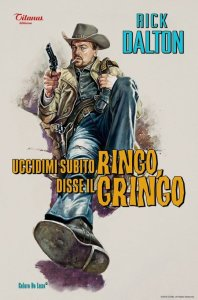 The film is filled with retro music and art, like this poster depicting a spaghetti western starring fictional actor Rick Dalton.